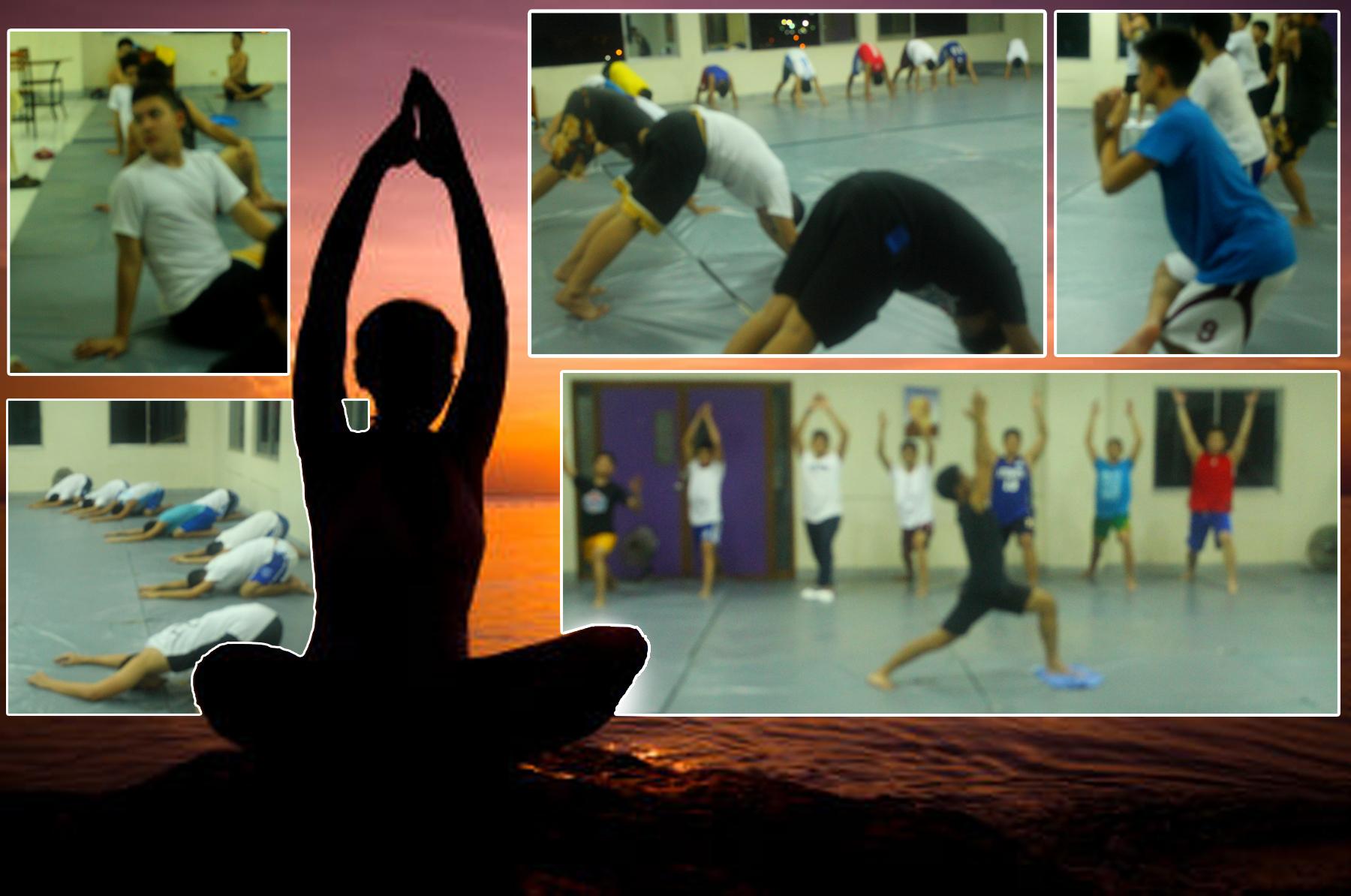 Yoga for ADDU Basketball Boys