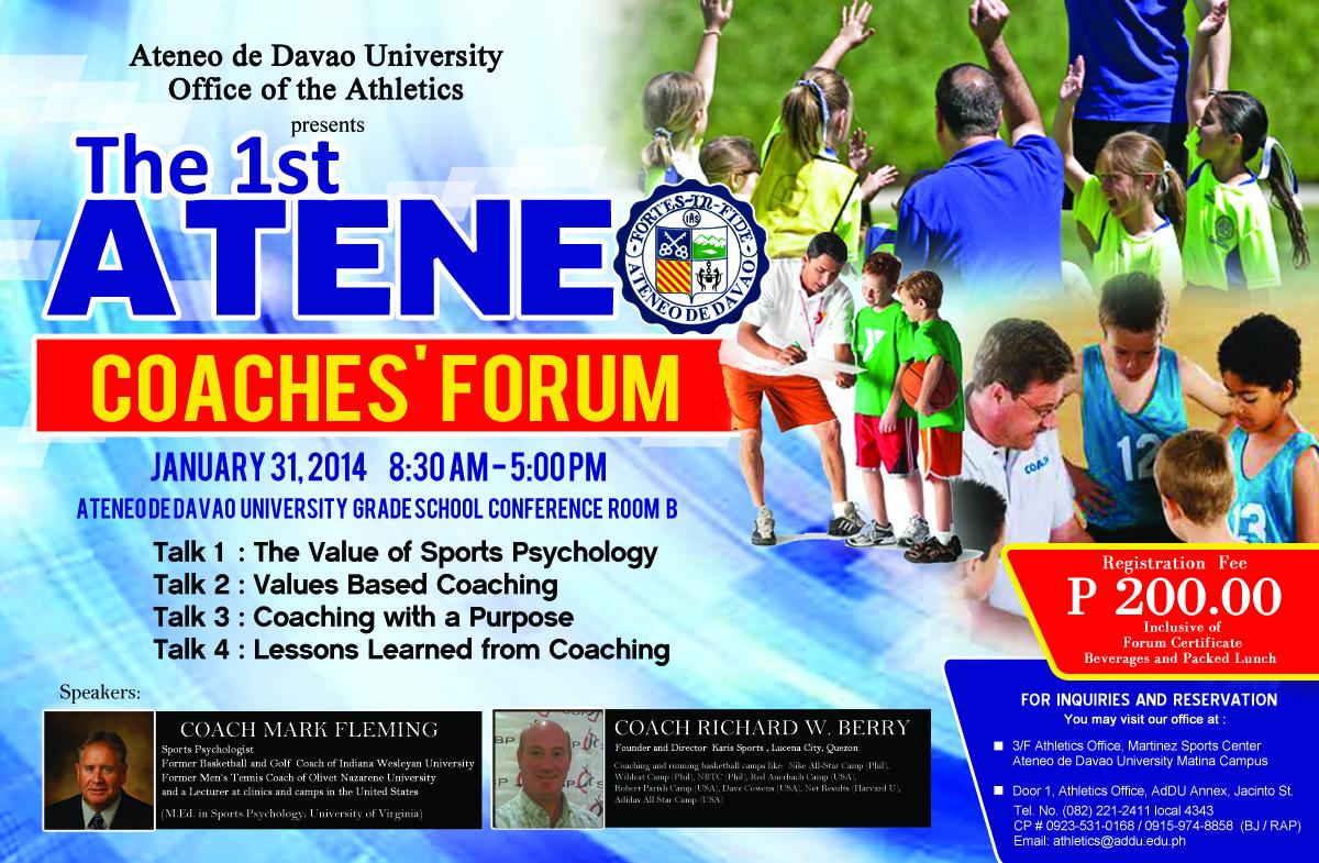 Ateneo 1st Coaches' Forum slated January 31