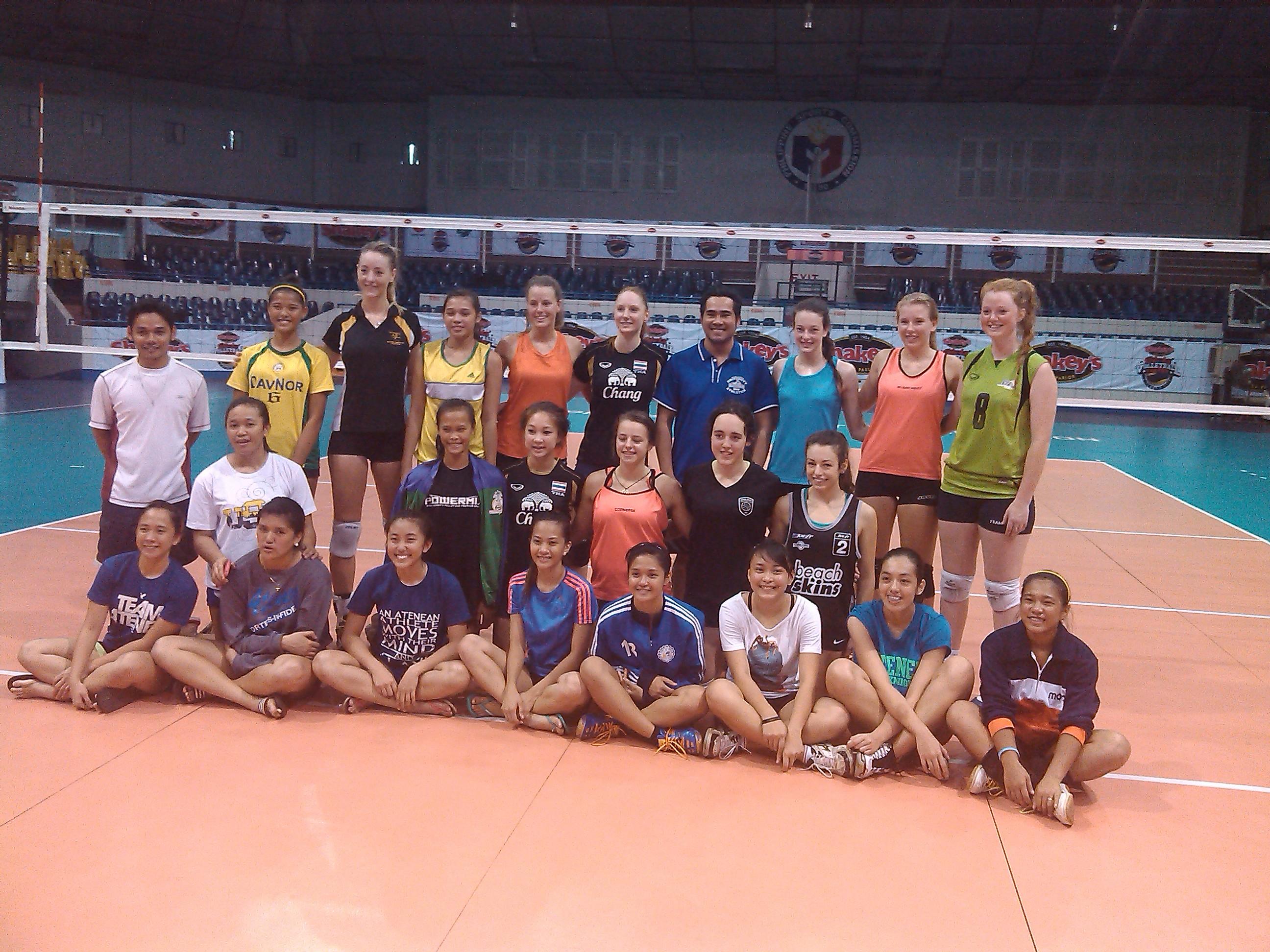 Ateneo de Davao HS Volleybelles in Shakey's Girls Volleyball International Championship